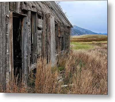 Little House On The High Plains Metal Print by Kathleen Bishop