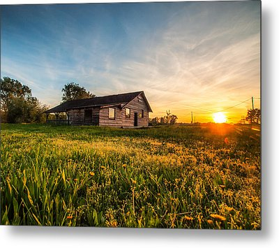Little House On The Prairie Metal Print by Davorin Mance