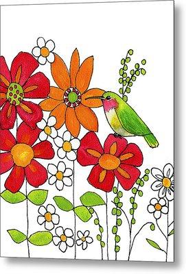 Little Hummingbird Metal Print by Blenda Studio
