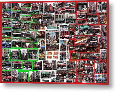 Metal Print featuring the digital art Little Italy Photo Collage by Steven Spak