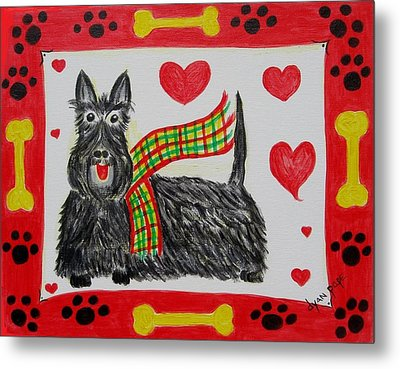 Metal Print featuring the painting Little Lassie by Diane Pape