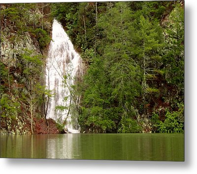 Little Laurel Branch Falls Landscape Metal Print