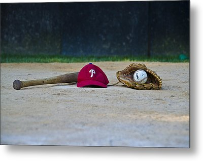 Little League Dreams Metal Print