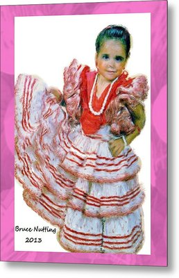 Metal Print featuring the painting Little Lidia by Bruce Nutting