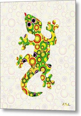 Little Lizard - Animal Art Metal Print
