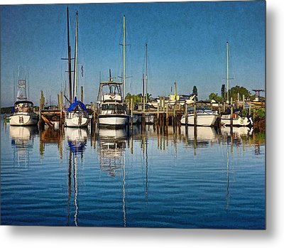 Metal Print featuring the photograph Little Marina by Pamela Blizzard