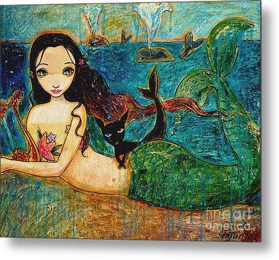 Little Mermaid Metal Print by Shijun Munns