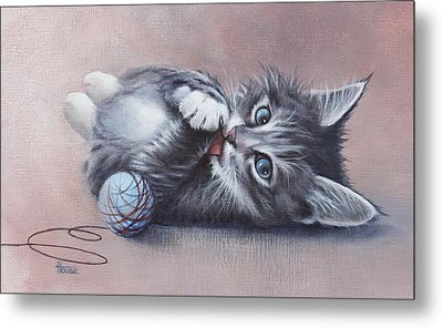 Metal Print featuring the painting Little Mischief by Cynthia House