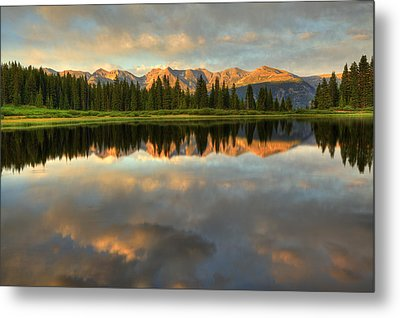 Little Molas Lake At Sunset Metal Print