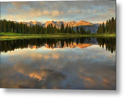 Little Molas Lake At Sunset Metal Print by Alan Vance Ley