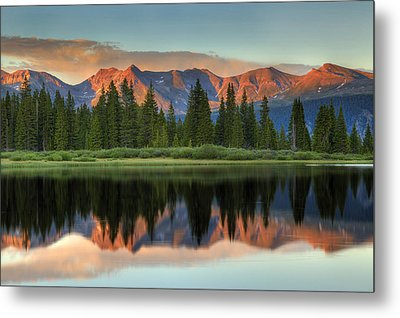Metal Print featuring the photograph Little Molas Lake Sunset 2 by Alan Vance Ley