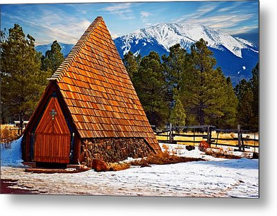 Little Mountain Church Metal Print by Bob Pardue