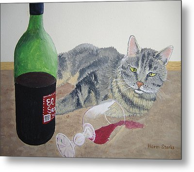 Little Ol' Wine Drinker Me Metal Print by Norm Starks