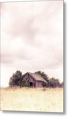 Little Old Barn In The Field - Ontario County New York State Metal Print by Gary Heller