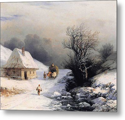 Little Oxcart Metal Print by Ivan Constantinovich Aivazovsky