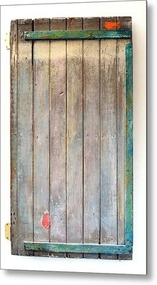 Little Painted Gate In Summer Colors  Metal Print by Asha Carolyn Young