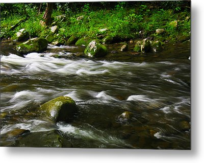 Little Piegon River Gatlinburg Tennessee Metal Print by Jerome Lynch