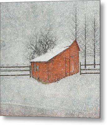 Little Red Barn Metal Print by Juli Scalzi