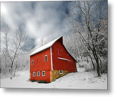 Little Red Barn Metal Print by Todd Klassy