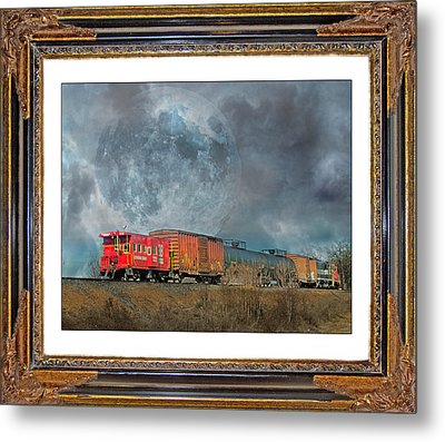 Little Red Caboose  Metal Print by Betsy Knapp