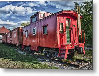 Little Red Caboose Metal Print by Guy Whiteley