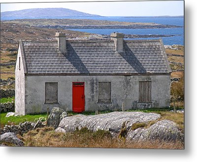 Metal Print featuring the photograph Little Red Door II by Suzanne Oesterling