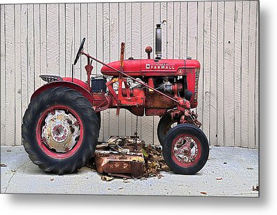 Metal Print featuring the photograph Little Red Farmall by Craig T Burgwardt