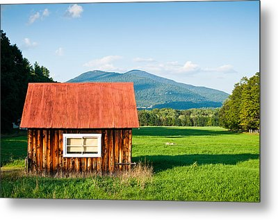 Little Red House Metal Print