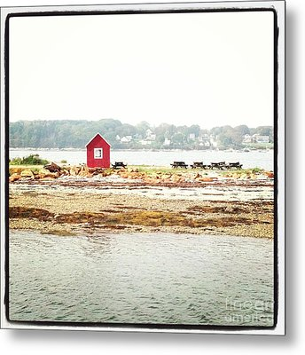 Little Red Hut Metal Print by Christy Bruna