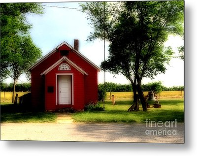 Little Red School House Metal Print by Kathleen Struckle