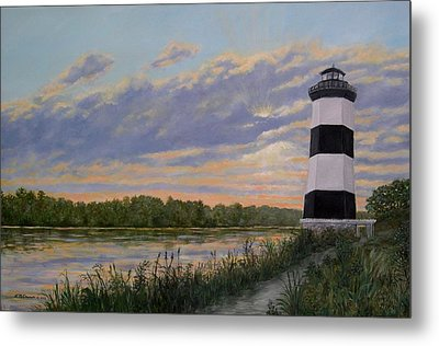 Little River Light 2 Metal Print