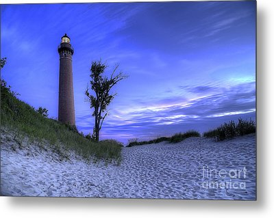Little Sable Lighthouse In Evening Metal Print by Twenty Two North Photography