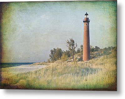 Little Sable Lighthouse Metal Print by Leo Cumings