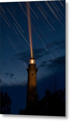 Little Sable Lighthouse Metal Print by Steve Gadomski