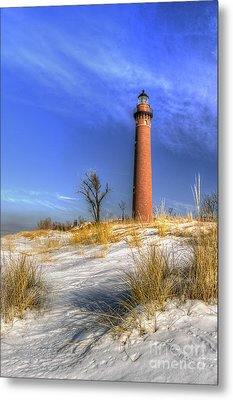Little Sable Lighthouse Winter Metal Print by Twenty Two North Photography