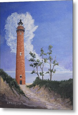 Little Sable Point Lighthouse Metal Print by Jerry McElroy