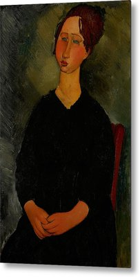 Little Servant Girl Metal Print by Amedeo Modigliani