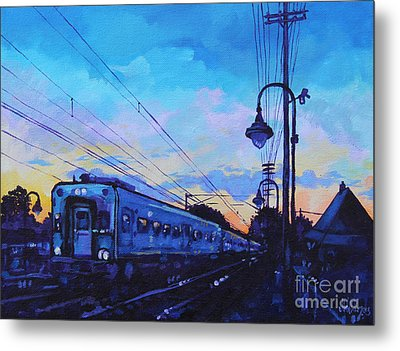 Little Silver Sunset Metal Print by Michael Ciccotello