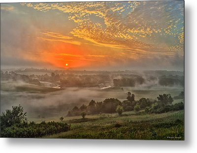 Little Sioux River Valley Sunrise Metal Print by Bruce Morrison