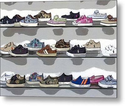 Little Sneakers Metal Print