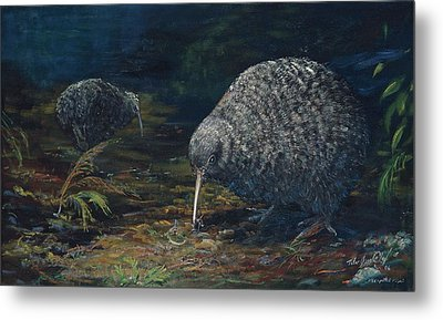 Little Spotted Kiwi Metal Print by Peter Jean Caley