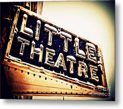 Little Theatre Retro Metal Print