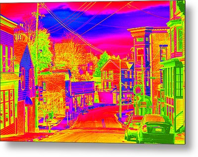Metal Print featuring the photograph Little Town Come To Life by Cathy Shiflett
