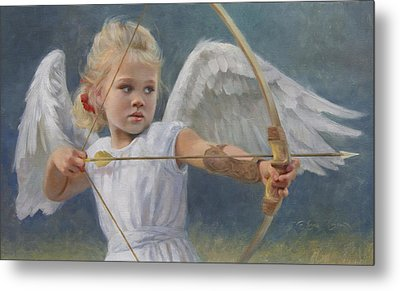 Little Warrior Metal Print