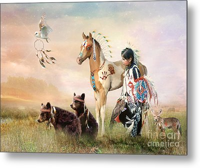 Little Warriors Metal Print by Trudi Simmonds