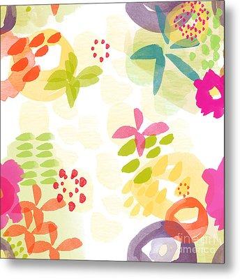 Little Watercolor Garden Metal Print by Linda Woods
