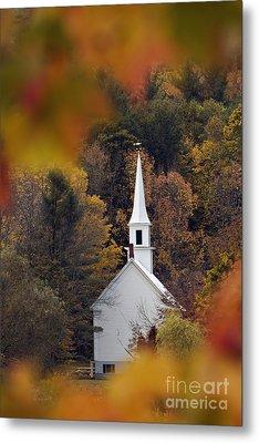 Little White Church - D007297 Metal Print