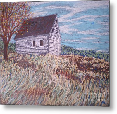Metal Print featuring the painting Little White House On The Hill by Suzanne McKay