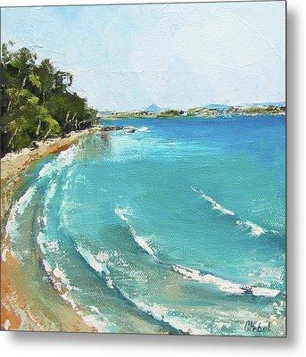 Metal Print featuring the painting Litttle Cove Beach Noosa Heads Queensland Australia by Chris Hobel