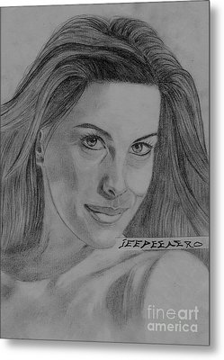 Metal Print featuring the drawing Liv Tyler by Jeepee Aero